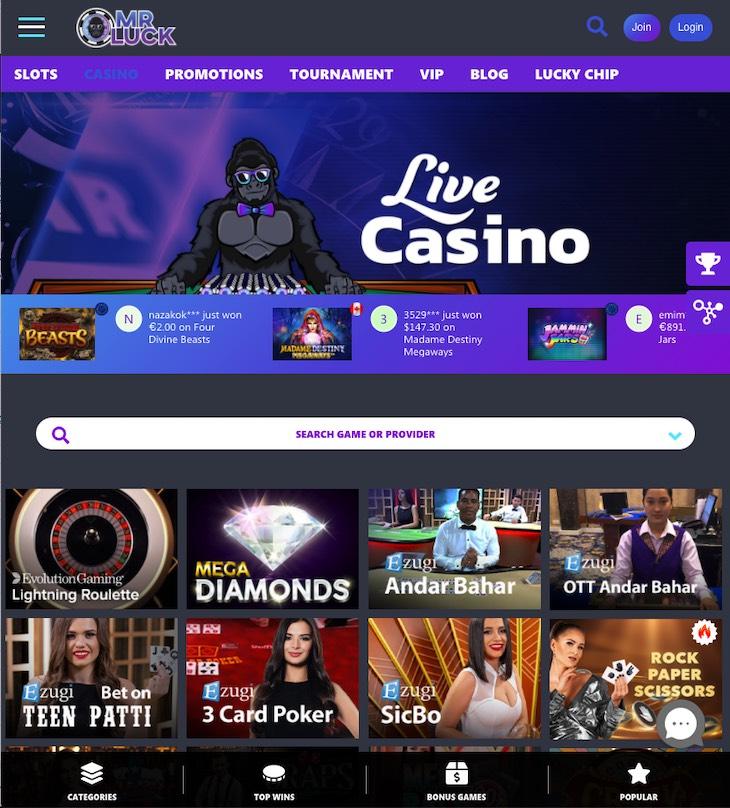 MrLuck Casino Review